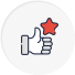 Satisfication Rate icon