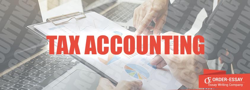 Tax Accounting essay sample