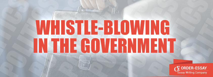 Whistle-blowing in the Government