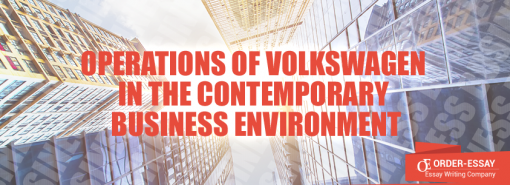 Operations of Volkswagen in the Contemporary Business Environment