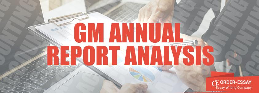 GM Annual Report Analysis