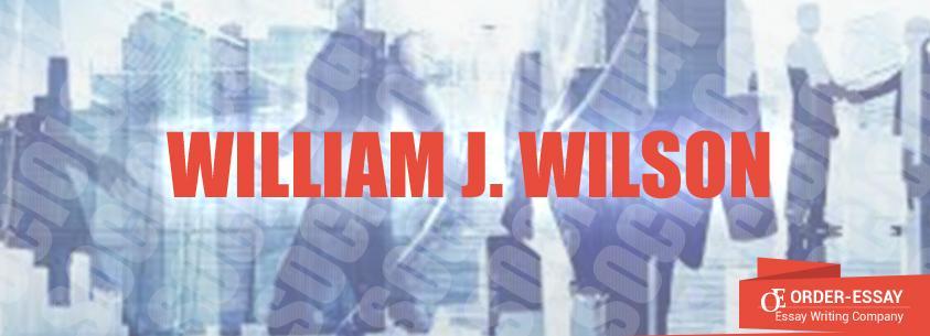 William J. Wilson Essay Sample