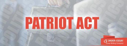 Patriot Act Sample Essay