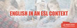 English in an ESL Context