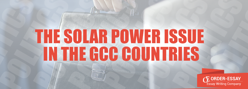 The Solar Power Issue in the GCC Countries