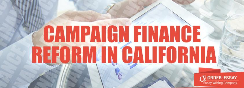 Campaign Finance Reform in California