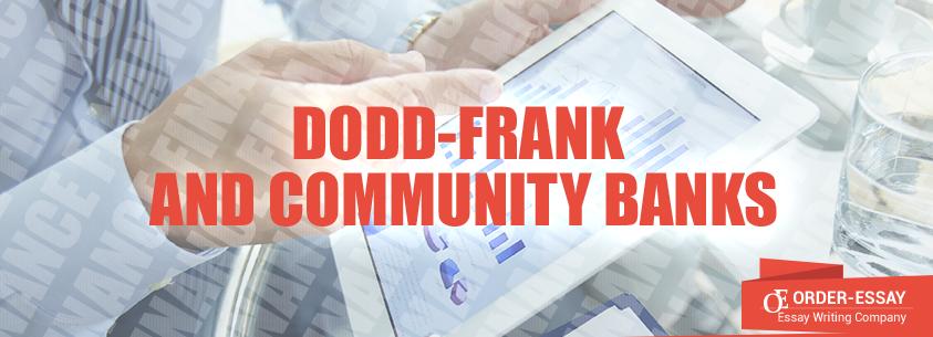Dodd-Frank and Community Banks
