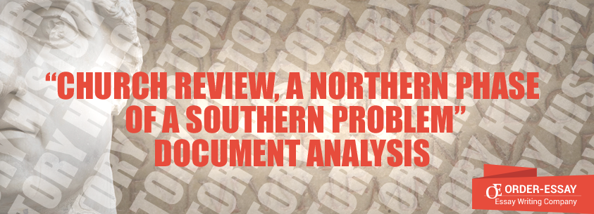 Church Review, A Northern Phase of a Southern Problem Analysis